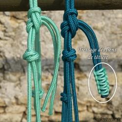 Licol en corde Naomé - licol éthologique personnalisable