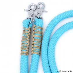 Rênes rondes en corde zigzag