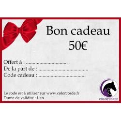 Bon cadeau colorcorde de 50€