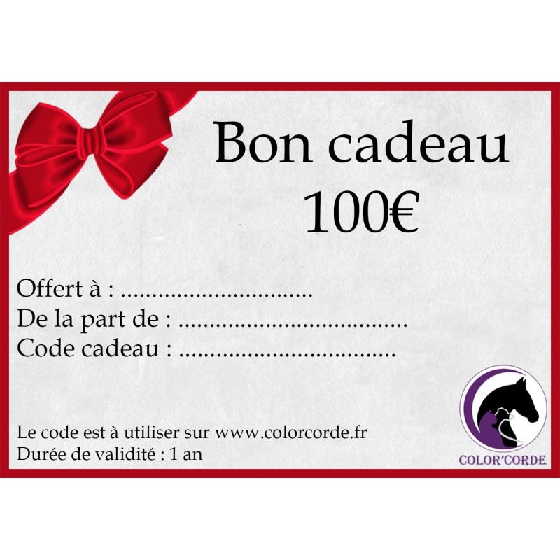 Bon cadeau colorcorde de 100€