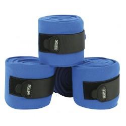 Bandes de polo C.S.O ajustables - Bleu vif