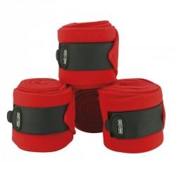 Bandes de polo C.S.O ajustables - Rouge